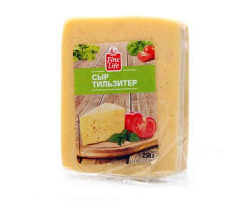 Сыр ТМ Fine Life (Файн Лайф) Тильзитер, 45%, 250 г