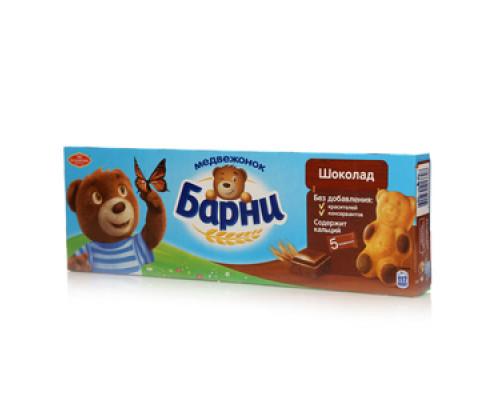 Пирожное с шоколадной начинкой Медвежонок Барни ТМ Большевик