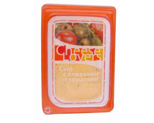 Сыр ТМ Cheese Lovers (Чиз Лаверз) оливки/томаты, нарезка, 50%, 150 г