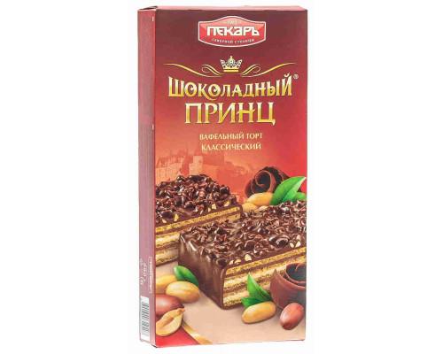 Торт вафельный Пекарь Шоколадный принц 260г