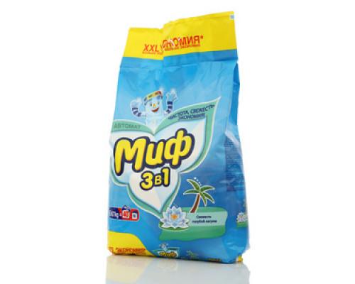Стиральный порошок Миф 3 в 1 Автомат свежесть голубой лагуны ТМ Миф