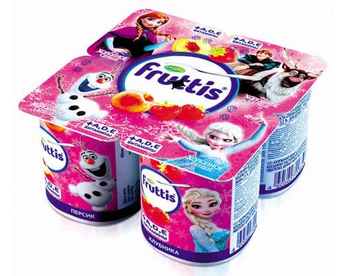 Продукт йогуртный  Fruttis Disney пастер клубника/персик 110г