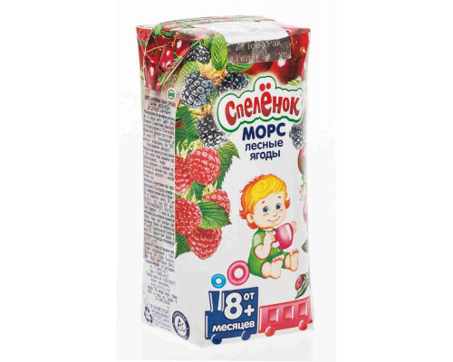 Морс Спелёнок лесные ягоды с 8мес 200мл т/п