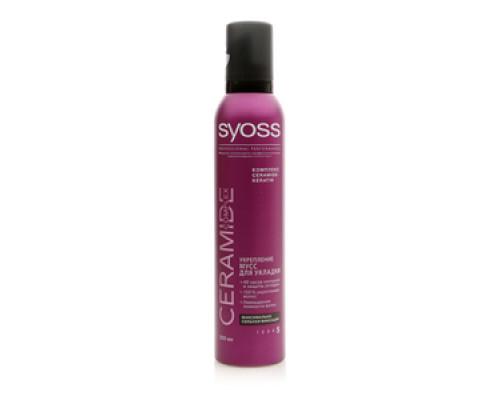 Мусс для укладки Syoss Ceramide complex Укрепление максимально сильная фиксация ТМ Syoss (Сиос)
