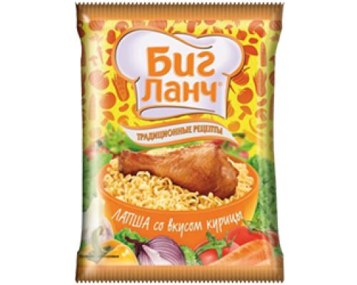 Лапша ТМ Биг Ланч Традиционные рецепты, курица, 75 г