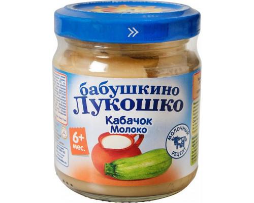 Пюре Бабушкино Лукошко кабачок/молоко, с 6 мес., 100 г
