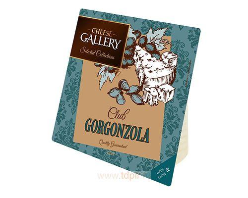 Сыр ТМ Cheese Gallery (Чиз Геллери) Горгонзола, 60%, c голубой плесенью, 90 г