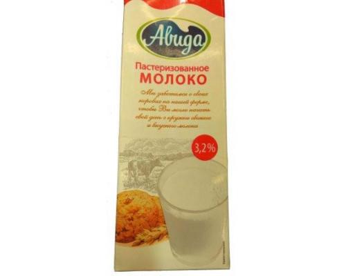 Молоко ТМ Авида, пастеризованное, 3.2%, 1 л