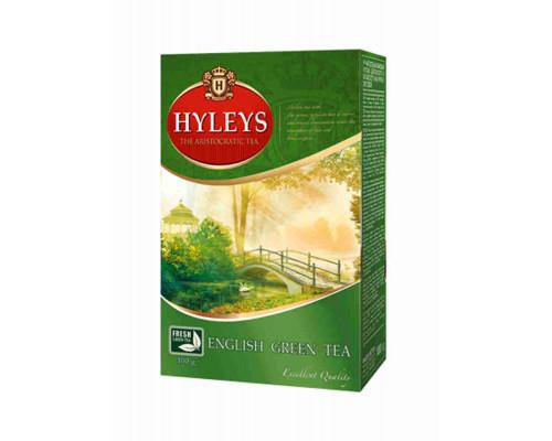 Чай HYLEYS английский зеленый байховый крупнолистовой китайский, 200г