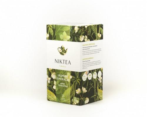 Чай зеленый ТМ Niktea (Никти) Jasmine Emerald, в пакетиках, 25 шт.