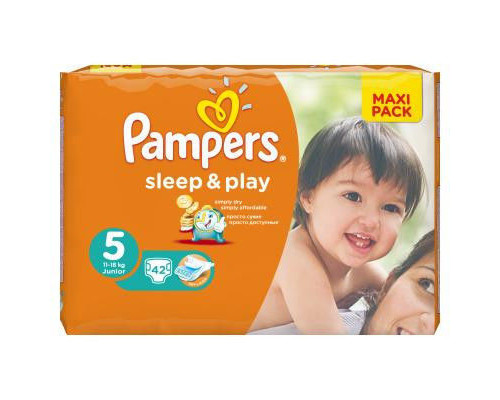Подгузники ТМ Pampers (Памперс) Sleep&Play Junior (11-18 кг), 42 шт.