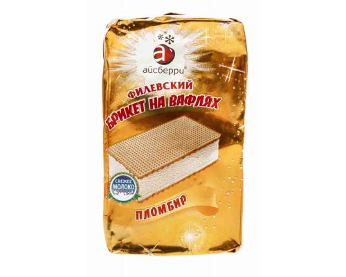 Мороженое пломбир Филевский на вафлях б/н брикет 80г