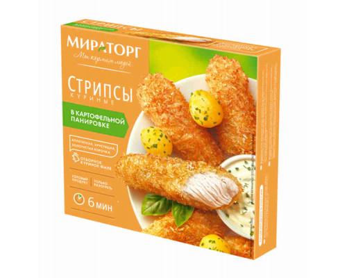 Стрипсы куриные Мираторг в картофельной панировке 340г