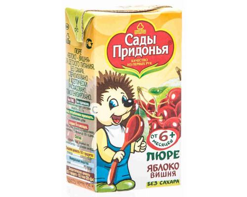 Пюре Сады Придонья яблоко/вишня с 6мес 125г т/п