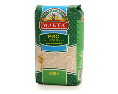 Рис длиннозерный шлифованный ТМ Makfa (Макфа)