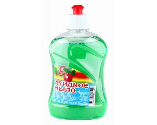 Мыло жидкое Радуга яблоко 500мл с дозатором
