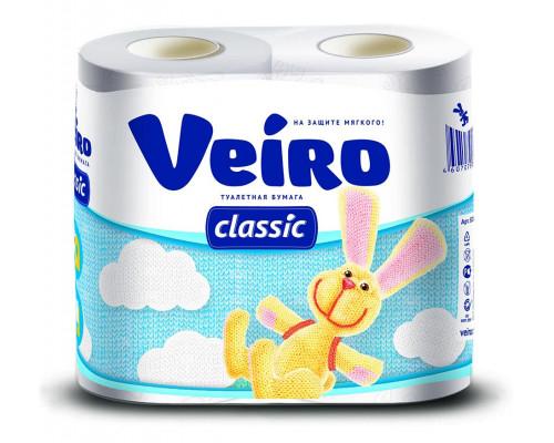 Туалетная бумага VEIRO Classic, 2 слоя, 4 рул., белая