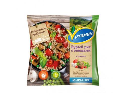 Бурый рис ТМ Vитамин (Витамин) с овощами и зеленью, 400 г