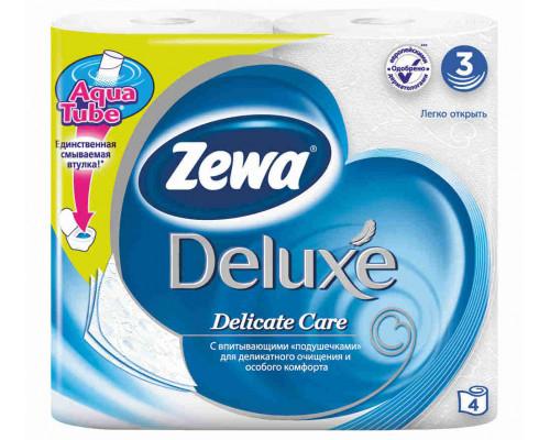 Туалетная бумага Zewa Deluxe белая 3сл 4шт