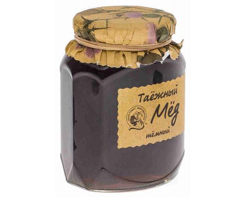 Мед Кедровый Бор Таежный натуральный темный 500г