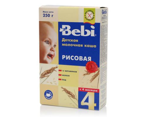 Каша детская молочная рис ТМ Bebi (Бэби)
