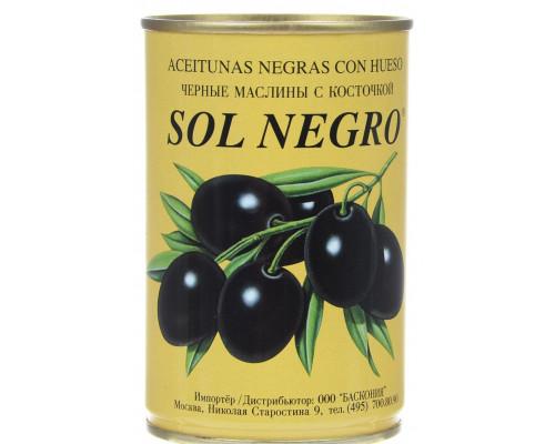Маслины ТМ Sol Negro (Сол Негро) с косточкой, 360 г