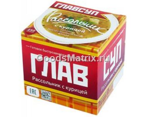 Суп Рассольник ТМ Главсуп, с курицей, 250 г