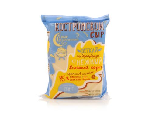 Сыр Костромский легкий высший сорт 45% ТМ Сыр Стародубский