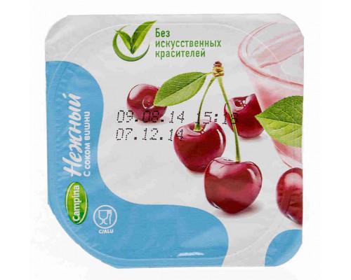 Продукт йогуртный пастеризованный Нежный 1,2% с соком вишни 100г