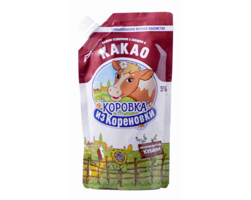Молоко сгущенное Коровка из Кореновки с сахаром и какао 270г д/п