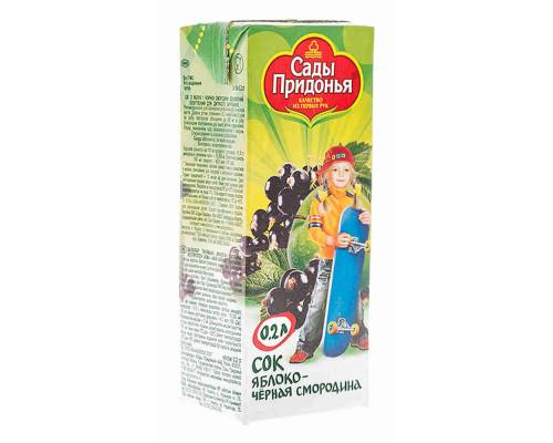 Сок Сады Придонья яблоко/смородина с 5мес 200мл т/п