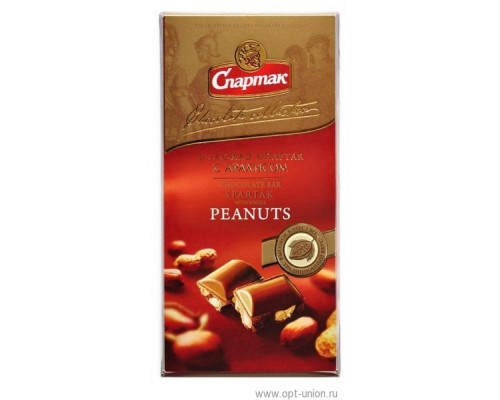Шоколад молочный Спартак с арахисом 90 г