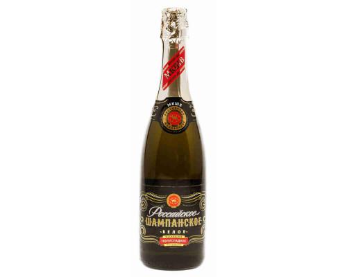 Российское Шампанское Московское белое полусладкое 0,75