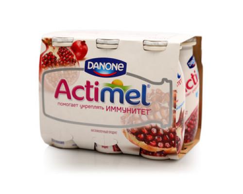 Кисломолочный продукт гранатовый Actimel (Актимель) 2,5% ТМ Danone (Данон), 6*100 г