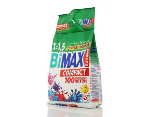 Стиральный порошок универсальный ТМ BiMax (БиМакс) 100 пятен автомат 3 кг