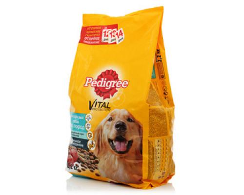 Корм сухой с говядиной для взрослых собак ТМ Pedigree (Педигри)