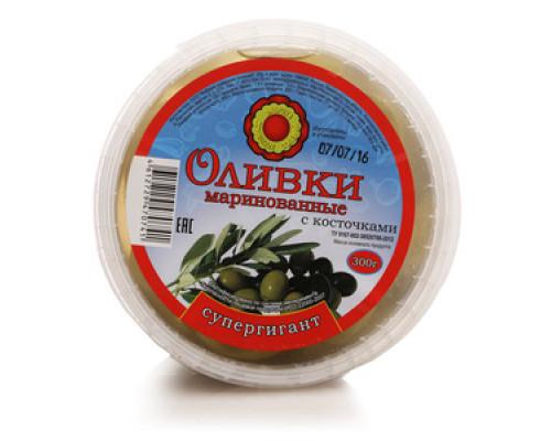 Оливки маринованные с косточками ТМ Фабрика домашних солений