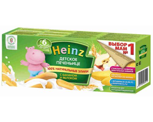 Печенье детское Heinz банан/яблоко с 6мес 160г