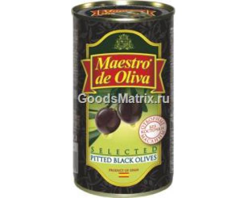 Отборные маслины ТМ Maestro de Oliva (Маэстро де Олива) без косточки, 360 г