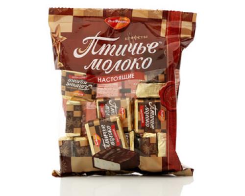 Конфеты глазированные шоколадной глазурью с кремово-сбивным корпусом Птичье молоко сливочно-ванильные ТМ РотФронт