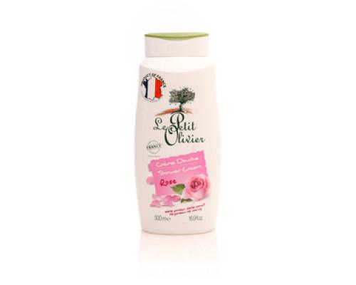 Нежный крем для душа роза ТМ Le Petit Olivier (Лё Петит Олив)