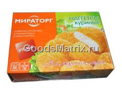 Наггетсы куриные ТМ Мираторг, хрустящие, 0,3 кг