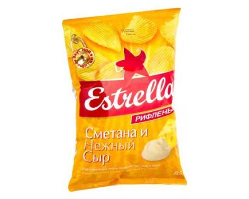 Чмпсы ТМ Estrella (Эстрелла), сметана и сыр 60 г