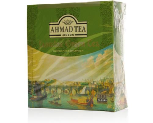 Чай зеленый байховый с жасмином в пакетиках ТМ Ahmad Tea (Ахмад Тиа)