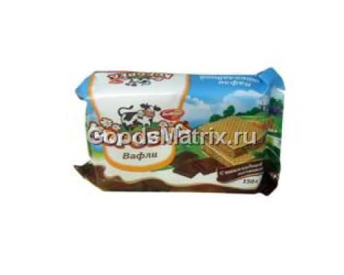 Вафли Коровка ТМ Рот-Фронт, с шоколадной начинкой, 150 г