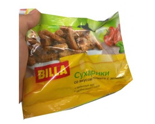 Сухарики Billa (Билла) со вкусом томата с зеленью, 40 г