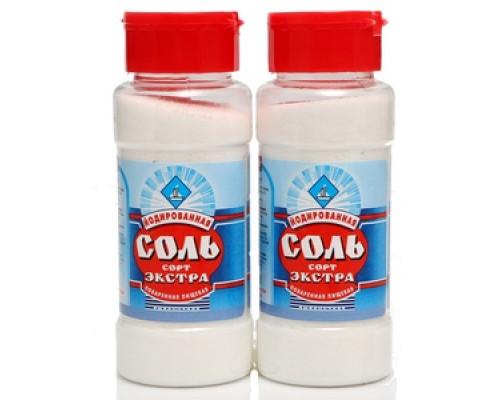 Соль йодированная Экстра поваренная пищевая 2*250 г