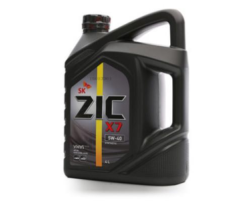 Масло моторное синтетическое X7 5W-40 ТМ ZIC (Зик)