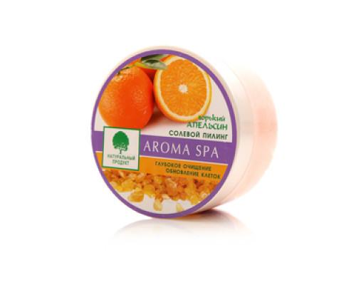 Солевой пилинг Горький апельсин Aroma spa глубокое очищение и обновление клеток ТМ Северная жемчужина