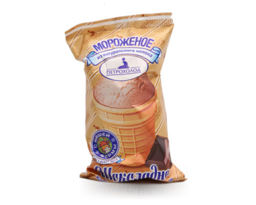 Мороженое шоколадное в вафельном стаканчике ТМ Петрохолод